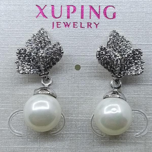 Ювелирное украшение серьги Xuping родий