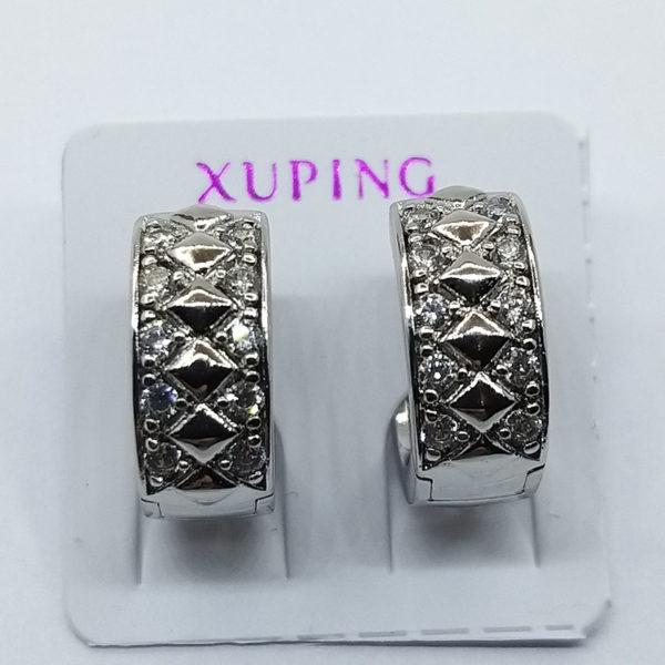 Серьги Xuping родий