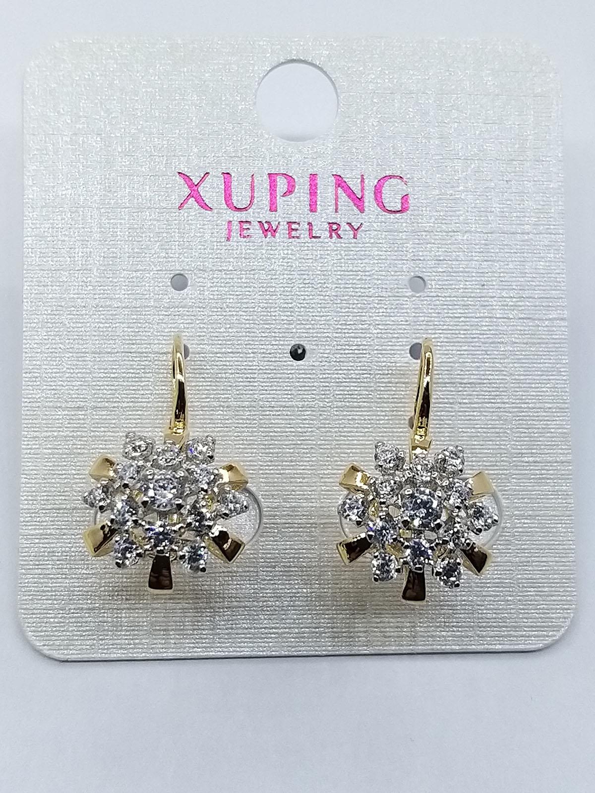 Ювелирное украшение серьги Xuping позолота 18К