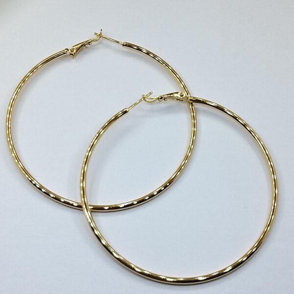 Ювелирная бижутерия серьги-кольца Xuping позолота 18К