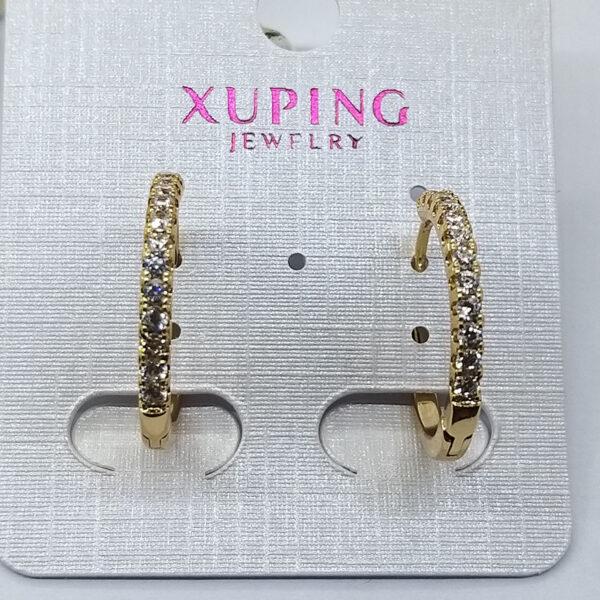 Ювелирная бижутерия серьги Xuping позолота 18К